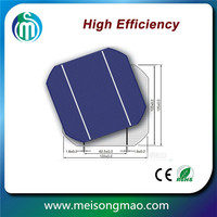 Monocrystalline silicon material mono solar cell 156*156 made in Taiwan
