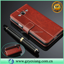 Luxury Phone Case Flip Cover For Samsung Galaxy Grand Max Leather Case