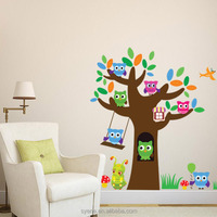 animal bird owl tree wall stickers cartoon forest animal scroll tree wall sticker 3d removable children tree wall stickers mural