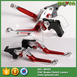 Alloy Aluminum CNC Milled Adjustable Scooter Brake Clutch Levers For Kawasaki Ninja 250R 300R