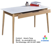 Home office wooden computer table writing desks with drawer