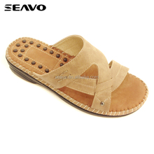 SEAVO SS18 fashion ergonomic massage leather PU new model women sandals wholesale china shoes