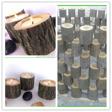 Rustic Wooden Tree Branch Log Candle Holders,Special for Christmas Table Decoration