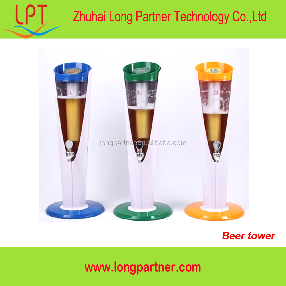 new products LED 100oz beer tower for drink dispenser
