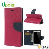 2016 new arrival factory price fashion cell leather cover mobile wallet case for samsung s5