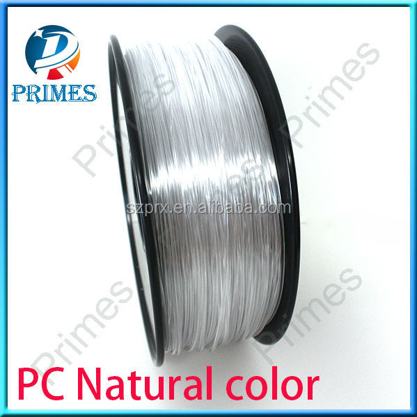 Primes 3D Printer PC filament with 1.75mm/3.0mm Blue, black and transparent colorsPrimes 3D Printer PC filament with 1.75mm/3.0m