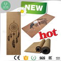 "CE Anti slip natural rubber mat 72"" x 24"" cork yoga mat with 3mm thickness"