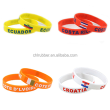 Wholesale Cheap Silicone Country Flag Wristband
