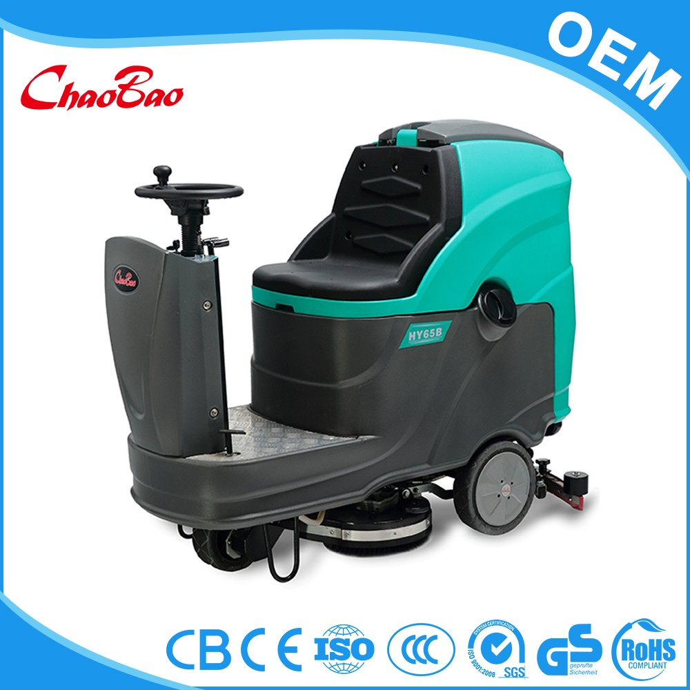 High quality electric ride on floor cleaner scrubber