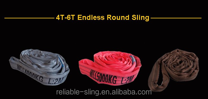 CE Certified Polyester Endless Type Round Sling For Lifting Loads