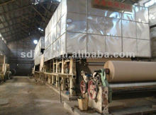 kraft paper making machine and small scale corrugated paper recycling plant