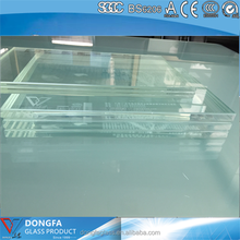 high security laminated clear tempered showroom glass with AS/NZS,safety building glass,double with PVB/SGP film