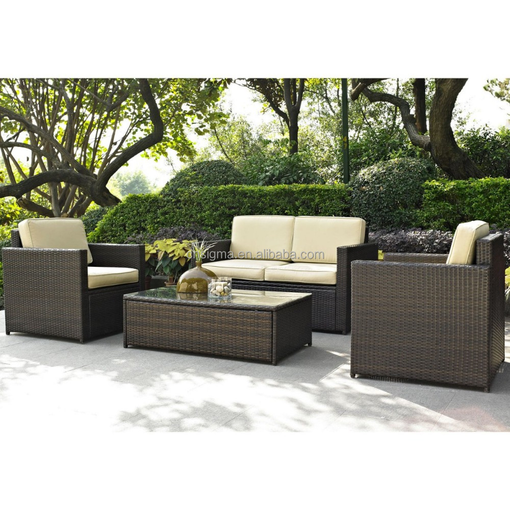 2017 Sigma good quality all weather home goods led patio used wicker furniture for sale