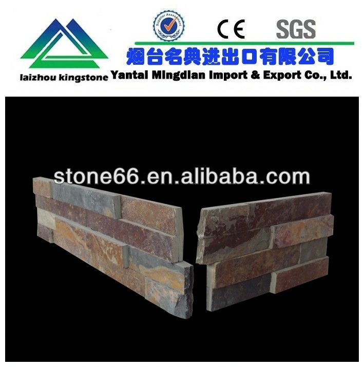 for home decoration stack stone feature wall HOT CN culture slate