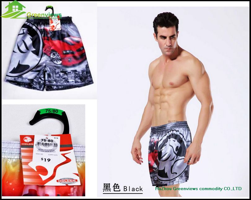 New colorful design silk print men beach shorts silk Fabric Mens Printed Shorts Mens Swim Short Beach GVYL0018