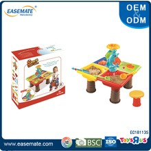Educational summer outdoor toys sand and water play table with chair