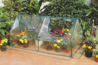 Garden Cold Frame Greenhouse Cloche for Easy Access Protected Gardening