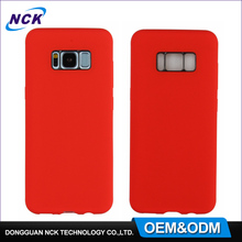 MOQ=100pcs free sample pc silicone back cover custom cell phone shell for s8 case