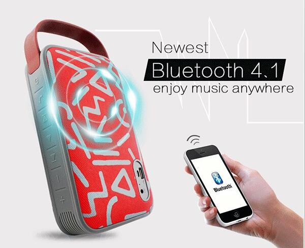 New Products Super Bass 16W Big Sound 7500 MAH Power Bank Portable Outdoor Wireless Bluetooth Speaker With TF card Mic Handsfree