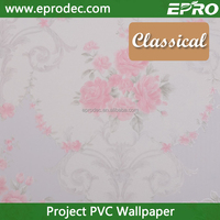 exquisite nature print vinyl project wall paper for living Room