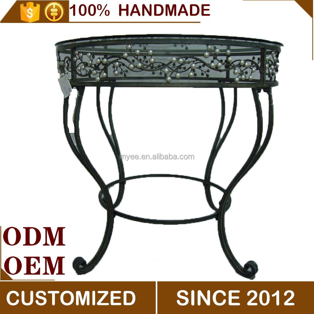 European metal and glass top decorative furniture tea table