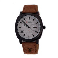 Hot Selling CURREN 8139 Men's Sport Military Leather Band Quartz Watch
