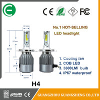 High power 60w 7600lm C6 led headlight h4 h13 9004 9007 car led headlight with wholesale price