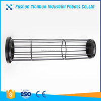 Carbon steel filter cage for dust collector baghouse