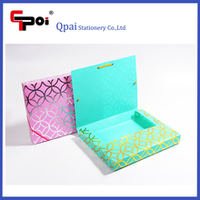 Office Stationery Custom Plastic A4 File Box Document Box With Elastic Box File
