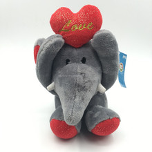 Valentine's Day Gift For lovers 2018 popular stuffed elephant lifting heart