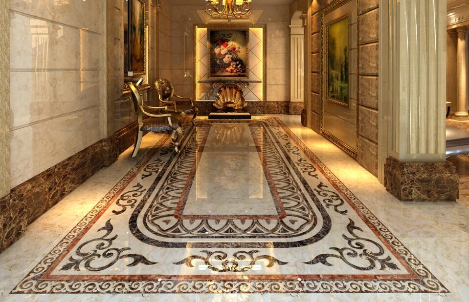 Bathroom carpet tiles