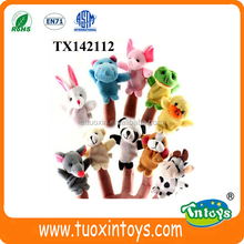 Soft cute plush finger puppet safe baby animal toy sets
