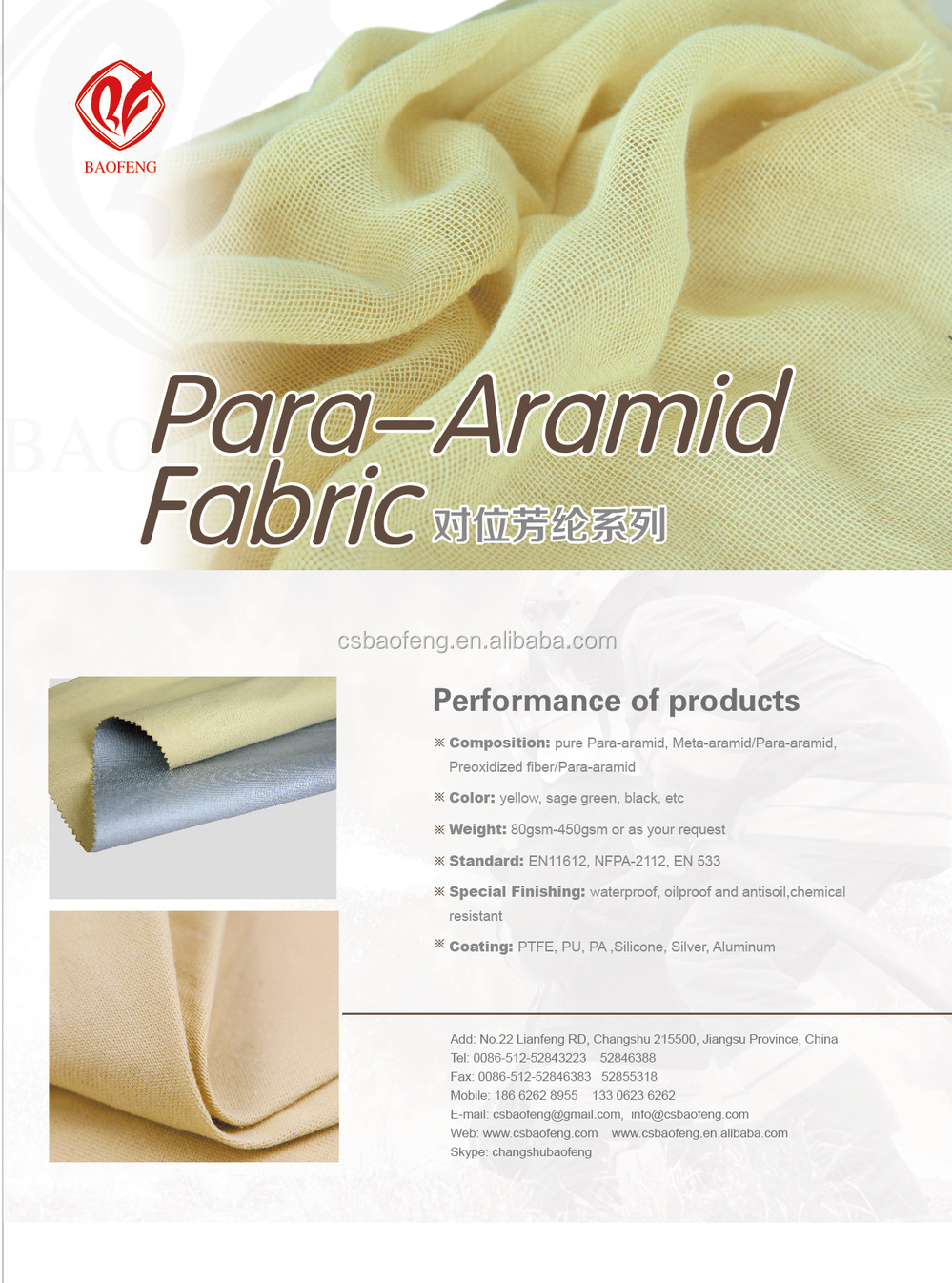 Para-aramid Bullet Proof Fabric