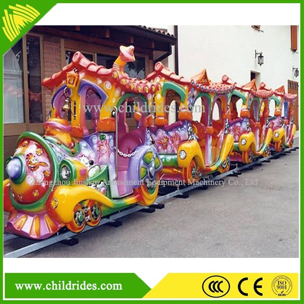 Hot sale happy railway electric train amusement park trains rides for sale