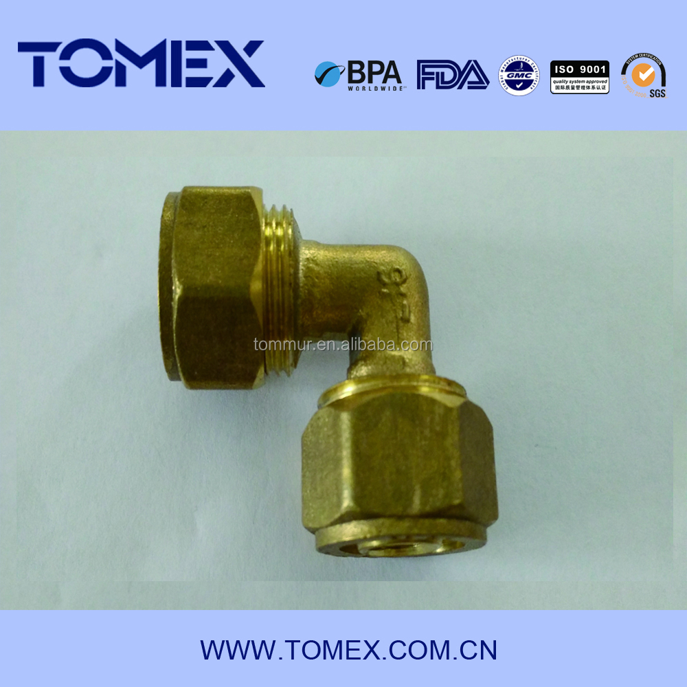 2015 alibaba china manufacture brass compression fitting uae for copper pipe