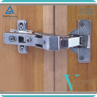 Closet and cabinet clip-on standard hinge
