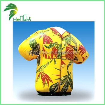 Giant Inflatable T-Shirt Advertising Model , Inflatable Shirt Replicas For Promotion