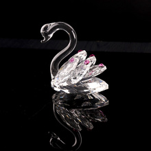 Best seller crystal couple swan for wedding gift decoration give away gifts