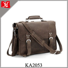 Handcrafted Full Grain Distressed Leather Laptop Briefcase Men's Stylish Messenger Bag