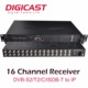 TV Broadcasting Equipment 16 Channel DVB-S2/T2/C/ISDB-T/ATSC Digital Headend FTA Professional Satellite Receiver
