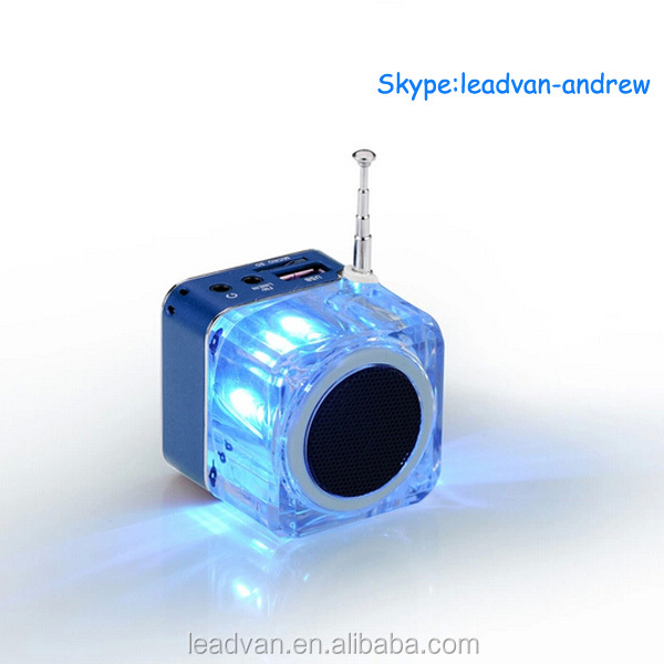 6 Colors Portable Multimedia Speaker With Music MP3/4 Player Micro SD/TF USB Disk FM Radio Cube Music Box