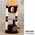 Pet supplier 3 layer Cat Tree Condo House Scratching Post Kitten Furniture & Scratchers wooden cat tree