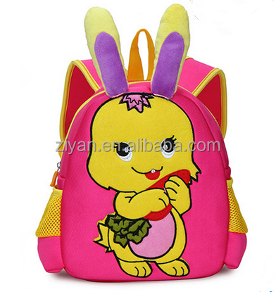 Wholesale Custom New Design Waterproof Outdoor Cartoon Animal Children School 3D Backpack Bag Cheap Import kids School Bag