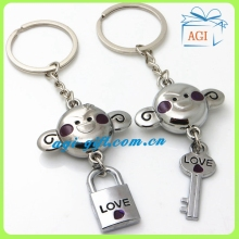 Key Ring Chain monkey key holder/Animal shape metal Keychain