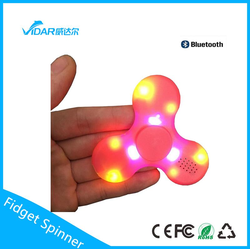 2017 New Three Colors LED Light Hand Spinners Fidget Spinner Triangle Finger Spinning Top Decompression Fingers Toys
