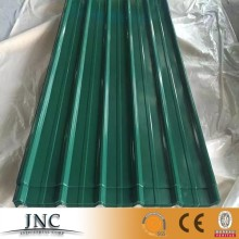 Ghana popular trapezoidal color green color metal roofing sheets/cheap price zinc roofing sheet