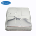 high quality disposable Household divided food storage aluminum foil container