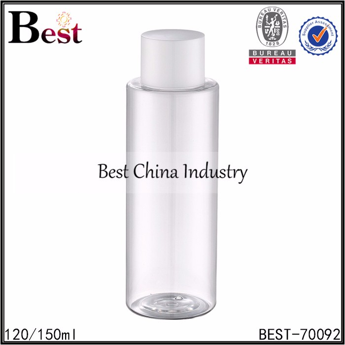 china supplier makeup label made 120ml 150ml plastic bottle for facial lotion