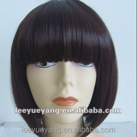 ladies' black short fashionable braided wigs