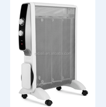 Free standing mica heater with power cord storage